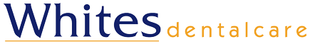 whites dental care logo image